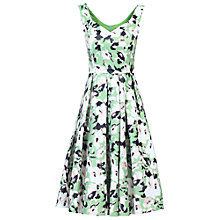 Buy Jolie Moi Sweetheart Neckline Floral Printed Dress, Green Online at johnlewis.com