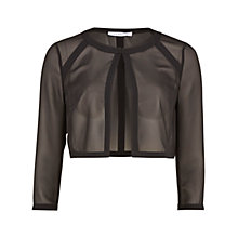 Buy Gina Bacconi Chiffon Jacket With Crepe Band Detail, Black Online at johnlewis.com