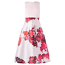 Buy Coast Madison Floral Overlayer Dress, Red Online at johnlewis.com