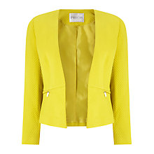 Buy Precis Petite Camila Textured Zip Jacket, Yellow Online at johnlewis.com