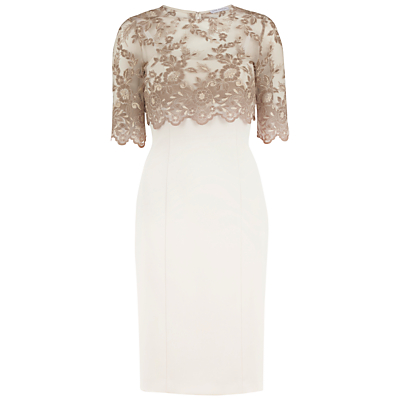 Gina Bacconi Antique Lace Top And Crepe Dress