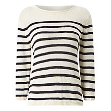 Buy Precis Petite Lydia Tape Yarn Jumper, Multi/Ivory Online at johnlewis.com