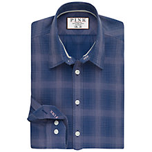 Buy Thomas Pink Mitchell Check Slim Fit Shirt, Navy/Pink Online at johnlewis.com