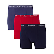 Buy Calvin Klein Solid Trunks, Pack of 3 Online at johnlewis.com