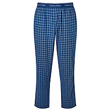 Buy Calvin Klein Cotton Flannel Check Lounge Pants, Blue Online at johnlewis.com