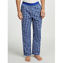 Buy Calvin Klein Woven Cotton Check Lounge Pants, Blue/Purple Online at johnlewis.com