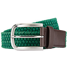 Buy John Lewis Washed Cotton Weave Belt Online at johnlewis.com