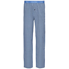 Buy Calvin Klein Frank Woven Cotton Check Lounge Pants, Blue Online at johnlewis.com