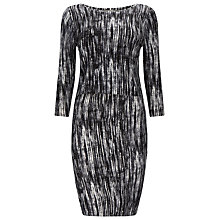 Buy Phase Eight Printed Darina Dress, Black Online at johnlewis.com