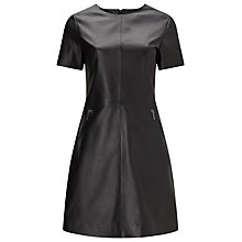 Buy Phase Eight Lucie Leather Dress, Black Online at johnlewis.com