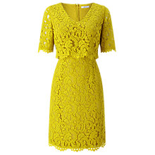 Buy Precis Petite Sasha Lace Layered Dress, Yellow Online at johnlewis.com