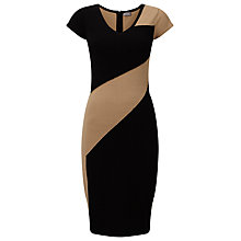 Buy Phase Eight Clariss Block Knit Dress, Black/Camel Online at johnlewis.com