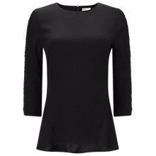 Buy Phase Eight Carmen Swing Back Blouse, Black Online at johnlewis.com