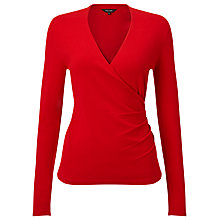 Buy Phase Eight Wilma Wrap Knit Top, Red Online at johnlewis.com