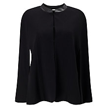 Buy Jacques Vert Ponti Cape, Black Online at johnlewis.com