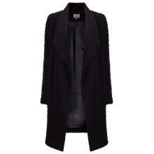 Buy Phase Eight Brooklyn Raschel Coat, Black Online at johnlewis.com