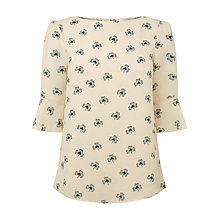Buy Oasis Margot Clover Lace Top, Multi/White Online at johnlewis.com