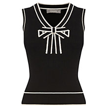 Buy Oasis Tipped Bow Rib Tank Top, Multi Online at johnlewis.com