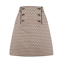 Buy Oasis Heart Jacquard Skirt, Multi Online at johnlewis.com