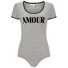 Buy Miss Selfridge Amour Body, Grey Online at johnlewis.com