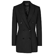 Buy Reiss Miki Double Breasted Textured Blazer, Black Online at johnlewis.com