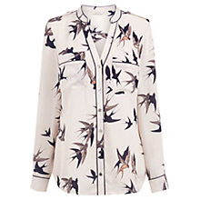 Buy Oasis Bird Piped Shirt, Multi/Neutral Online at johnlewis.com