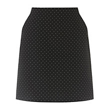 Buy Oasis Spot Poppy Skirt, Black Online at johnlewis.com