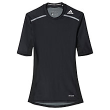Buy Adidas Techfit Chill Training T-Shirt, Black Online at johnlewis.com