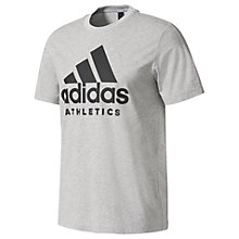 Buy Adidas Logo Athletics Training T-Shirt, Grey Online at johnlewis.com