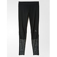 Buy Adidas Supernova Men's Heathered Long Running Tights, Black/Grey Online at johnlewis.com