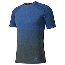Buy Adidas Primeknit Running T-Shirt, Blue Online at johnlewis.com