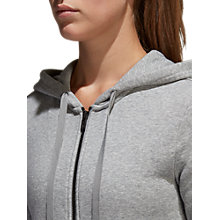 Buy Adidas Essentials Solid Full Zip Training Hoodie, Grey Heather Online at johnlewis.com