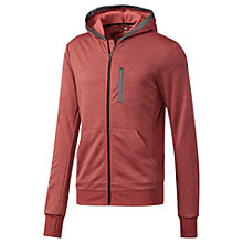 Buy Adidas City Run Knit Hoodie, Red Online at johnlewis.com