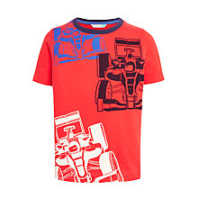 Buy John Lewis Boys' Racing Cars T-Shirt, Red Online at johnlewis.com