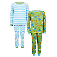 Buy John Lewis Children's Jungle Safari Print Pyjamas, Green Online at johnlewis.com