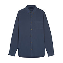 Buy Jaeger Washed Cotton Twill Shirt, Navy Online at johnlewis.com