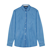 Buy Jaeger Indigo Cotton Shirt, Indigo Online at johnlewis.com