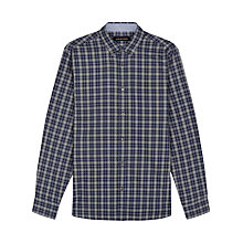 Buy Jaeger Multi Check Regular Fit Shirt, Olive Online at johnlewis.com