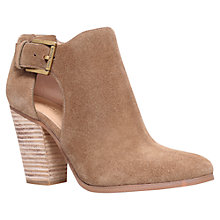 Buy MICHAEL Michael Kors Adams High Block Heel Ankle Boots, Beige Suede Online at johnlewis.com