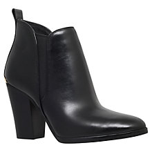 Buy MICHAEL Michael Kors Brandy High Block Heel Ankle Boots, Black Leather Online at johnlewis.com