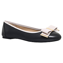 Buy MICHAEL Michael Kors Kiera Ballet Pumps, Black/Nude Leather Online at johnlewis.com