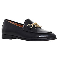 Buy Kurt Geiger Drive Loafers, Black Patent Leather Online at johnlewis.com