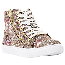 Buy Steve Madden Earnest High Top Trainers, Glitter Online at johnlewis.com