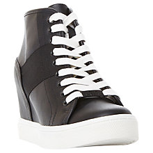 Buy Steve Madden Lussious Lace Up Wedge Trainers Online at johnlewis.com