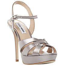 Buy Steve Madden Kaiden Peep Toe Stiletto Sandals, Silver Online at johnlewis.com