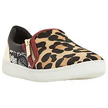 Buy Dune Edgar Zip Slip On Trainers, Leopard Online at johnlewis.com
