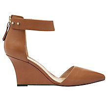 Buy Mint Velvet Elina Slim Wedge Court Shoes, Tan Online at johnlewis.com