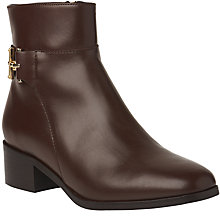 Buy L.K. Bennett Gabriela Block Heeled Ankle Boots, Chestnut Online at johnlewis.com
