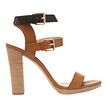 Buy Mint Velvet Jess Double Strap Sandals, Tan Online at johnlewis.com