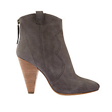 Buy Mint Velvet Camilla Cone Heel Ankle Boots, Mushroom Online at johnlewis.com